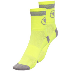 Endura Luminite Socks TwinPack hi-viz yellow/reflective